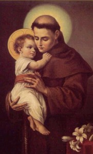 St. Anthony always had a Corona on him.