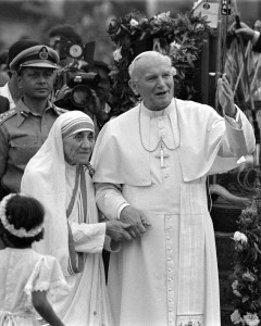 Pope St. John Paul II and Blessed Mother Theresa